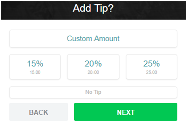 Tip or Custom Amount